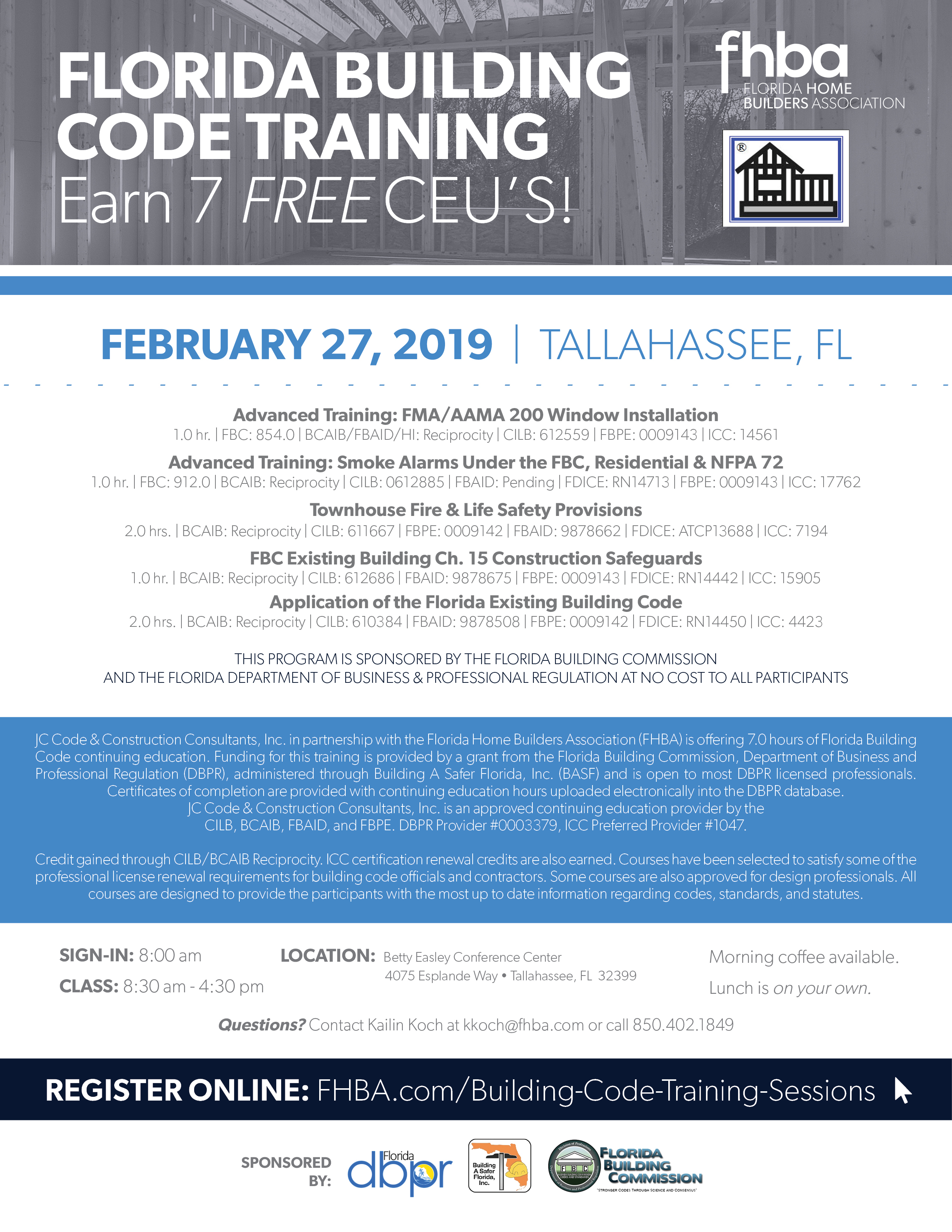 Building-Code-Training-Flyer-2019-Tallahassee