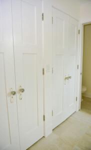 11B.. Extra Bathroom Detail Original antique doorknobs repourpsed for closets