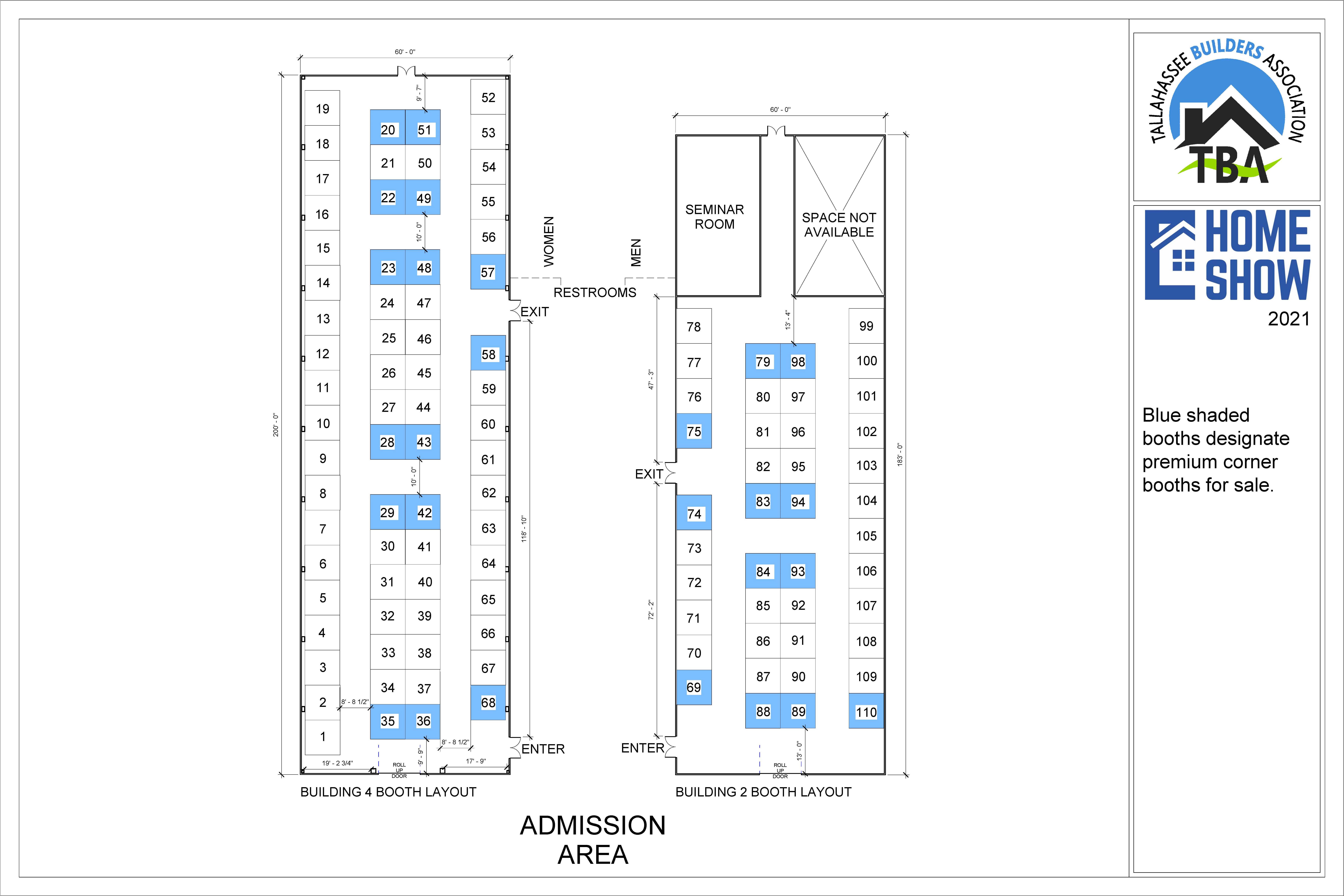 TBA Home Show floor plan